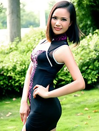 Asian woman Cailian (Lina) from Guangxi, China