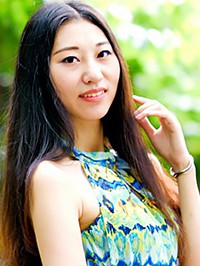 Asian woman Qing from Guangdong, China